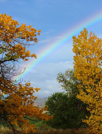 Autumn Rainbow Over Olathe