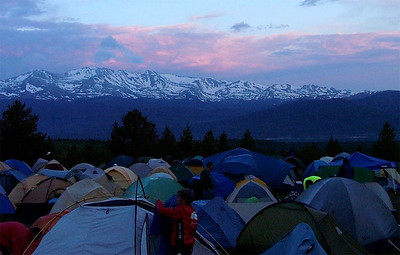 sunrise over Leadville tent city, 2005 Ride the Rockies