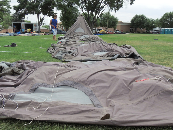Up go the Tents