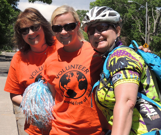 Yolanda, Elise and Snowcatcher, 2014 High Roller Training Ride