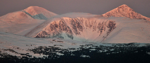 Sunrise on Grays Peak and Torreys Peak