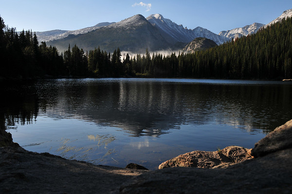  Storm Peak and Longs Peak reflect in Bear Lake