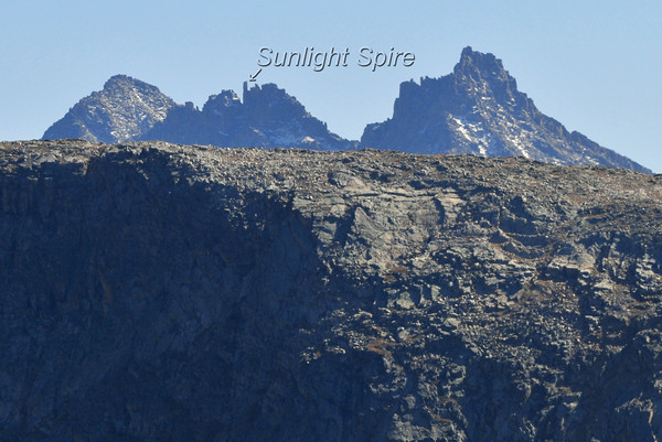 Windom Peak, Sunlight Spire and Sunlight Peak