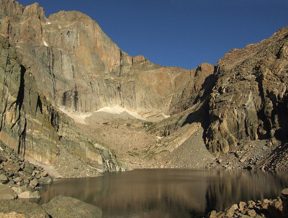 Longs Peak from Chasm Lake