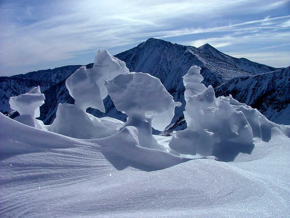 Torreys Peak from the winter alient summit of Cupid