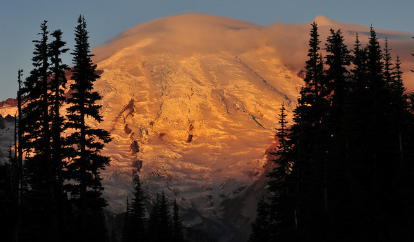 First Light on Mount Rainier