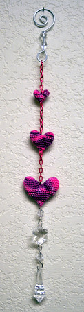 hand-dyed hearts