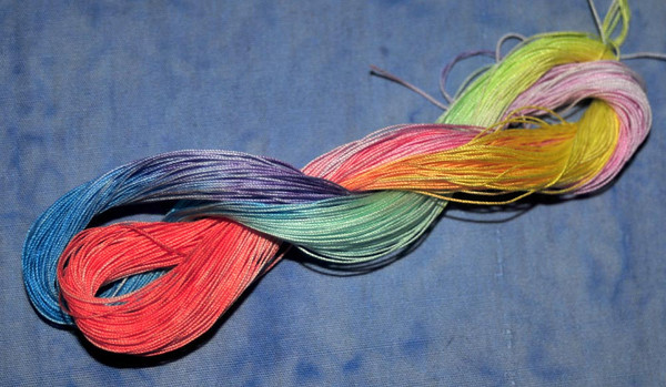 hand-dyed size 80 thread