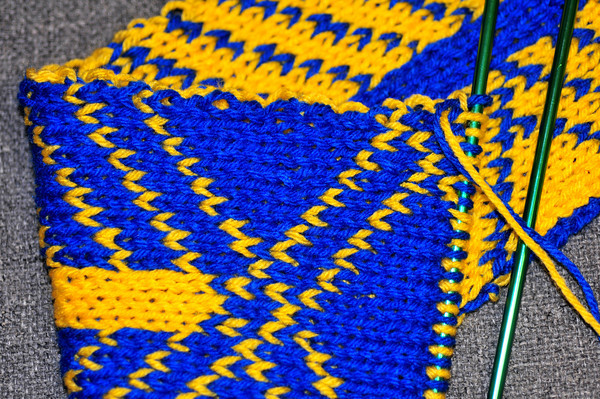 Boston Marathon Scarf Project Double Knit Scarf