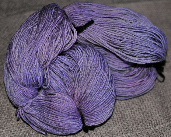 my first hollyhock wool sock yarn