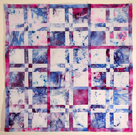 A Snow-dyed Quilt Top!