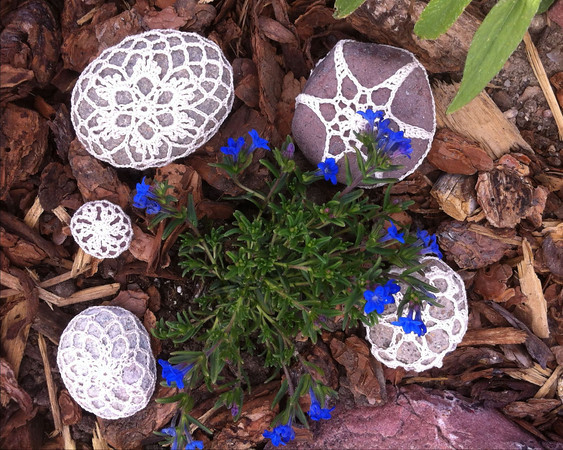 Garden Snowflakes with Blue Me Away
