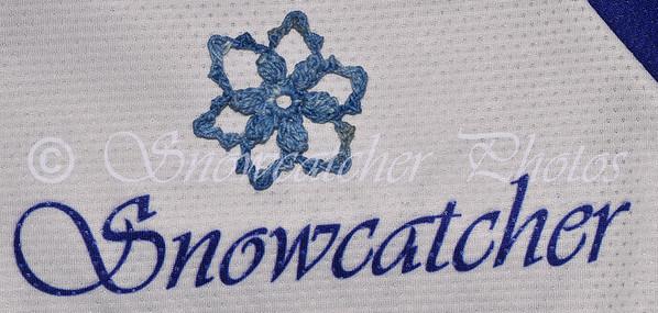 hand-dyed indigo Popcorn Snowflake