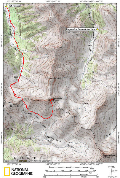 Coxcomb and Snowcatcher proposal area