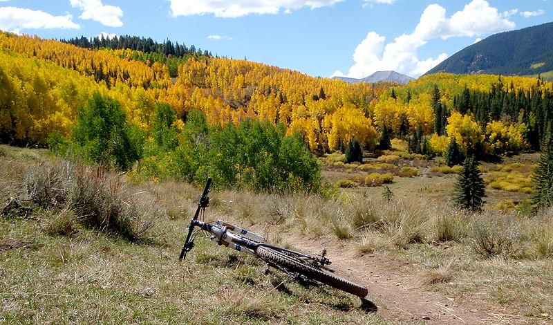 Sweet singletrack comprises the Strand Bonus Trail, Crested Butte, Colorado.