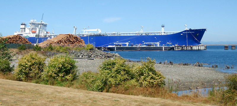 Crude oil tanker Polar Enterprise docked at Port Angeles, WA.