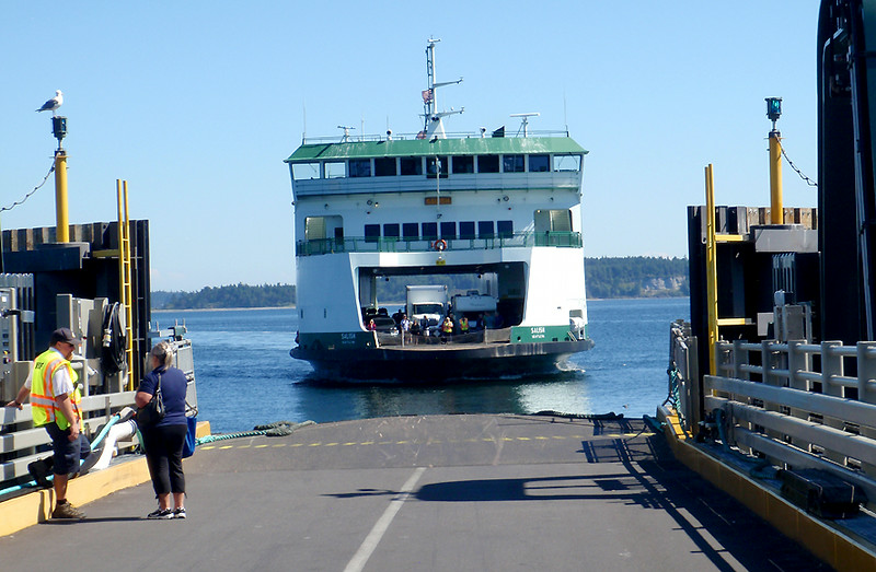 Our soon to be ferry docking at Port Townsend, WA.