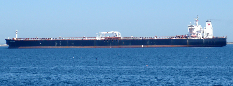 Another large ship steamed into port while riding back through Port Angeles, WA.