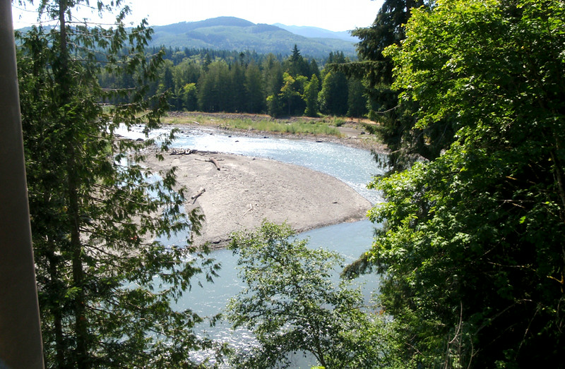 The Elwha River from the Elwha Bridge.  This was our turn around point.