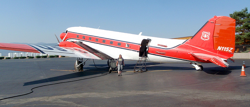 This United State Forest Service DC 3 Smokejumper aircraft is packed and ready to go.