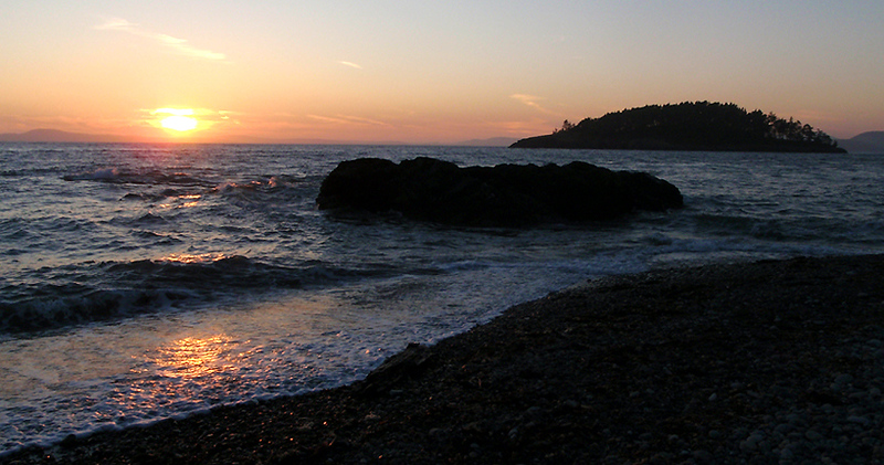 Looking west across the Strait of Juan de Fuca from the Deception Pass area.