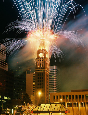New Year's Eve 2000, Downtown Denver, Colorado, scanned from a 35mm print