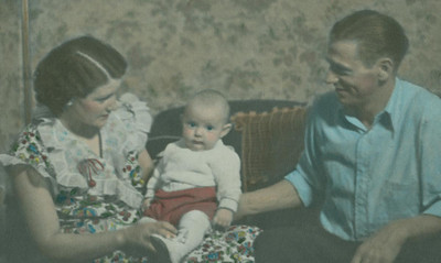 Grandpa, Dad and Grandma, 1937