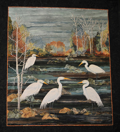 Evening Egrets by Joanne Baeth