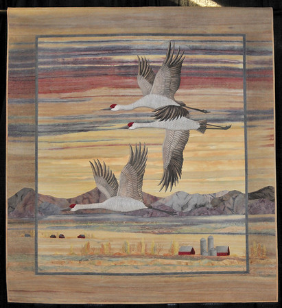 Sunset and Sandhill Cranes by Joanne Baeth, Best of Show