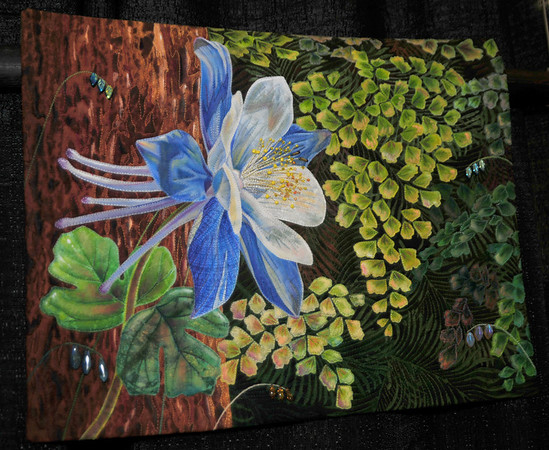 Columbine and Ferns by Annette Kennedy