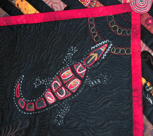 Detail of Joined by a Thread by Marian Drain and Muriel Woods-Paes