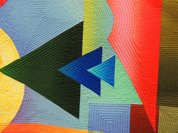 Detail of Second Encounter by Shirley Gisi, Best Wall Quilt