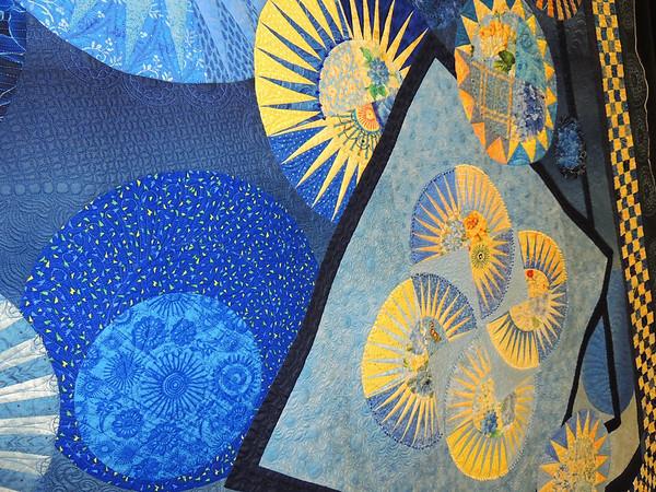 Detail of Sunlit Circles by Ann L Petersen, Best Machine Workmanship