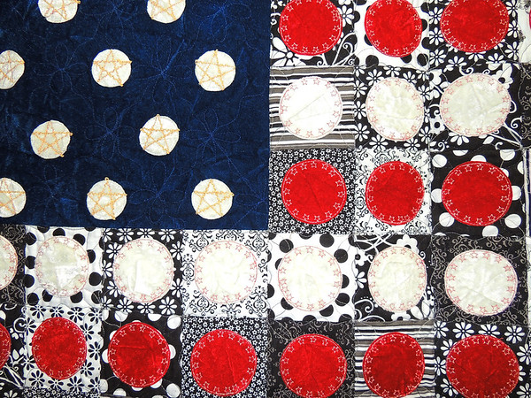 Detail of Black, White, Red, White, Blue by Irene Guthrie and Linda Schwarz