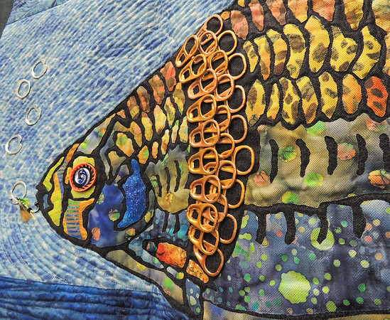 Detail of The Lunker by Janice M. Jones, Quilter's Treasure First Place