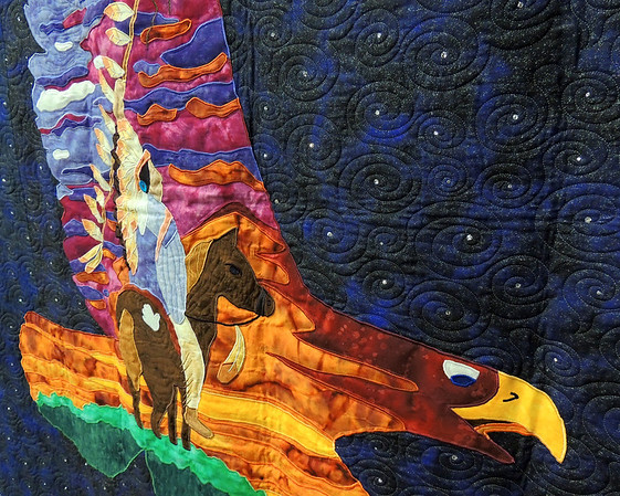 Detail of Spirit of the Eagle by Jennifer Haines and Angela Lamoree