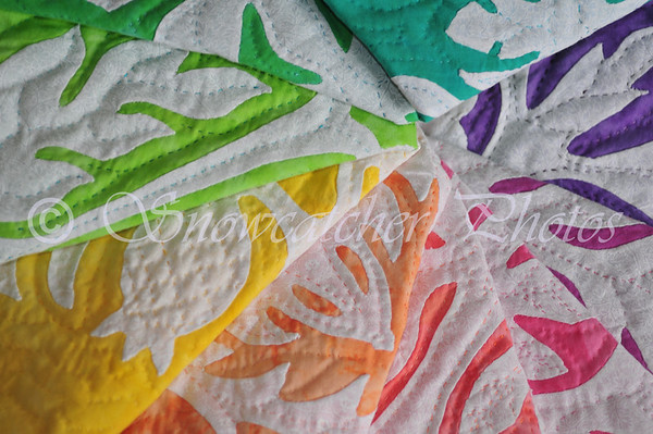 Hawaiian Applique Quilt Squares