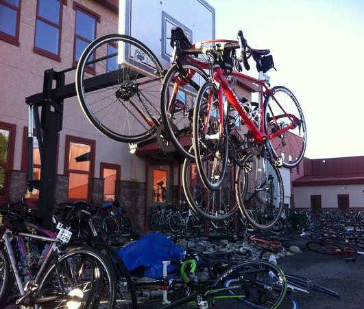 A bike rest