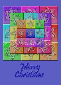 digital snowflake quilt