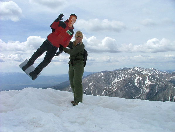 Atop Mount Princeton with C-Rod