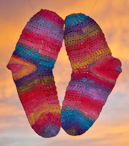 sunset Noro socks