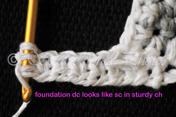 foundation double crochet makes single crochet in sturdy chain