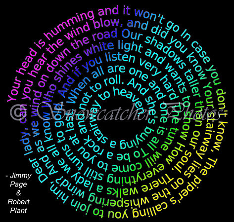 spiral rainbow lyrics, with lots of Photoshop editing by me