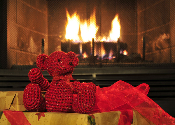 Bears Roasting by an Open Fire
