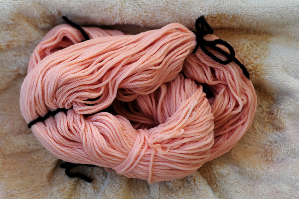 My own sumac still produces some of the prettiest natural-dyed yarn!