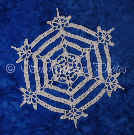 Crocheted snowflake Serenity - made by Snowcatcher