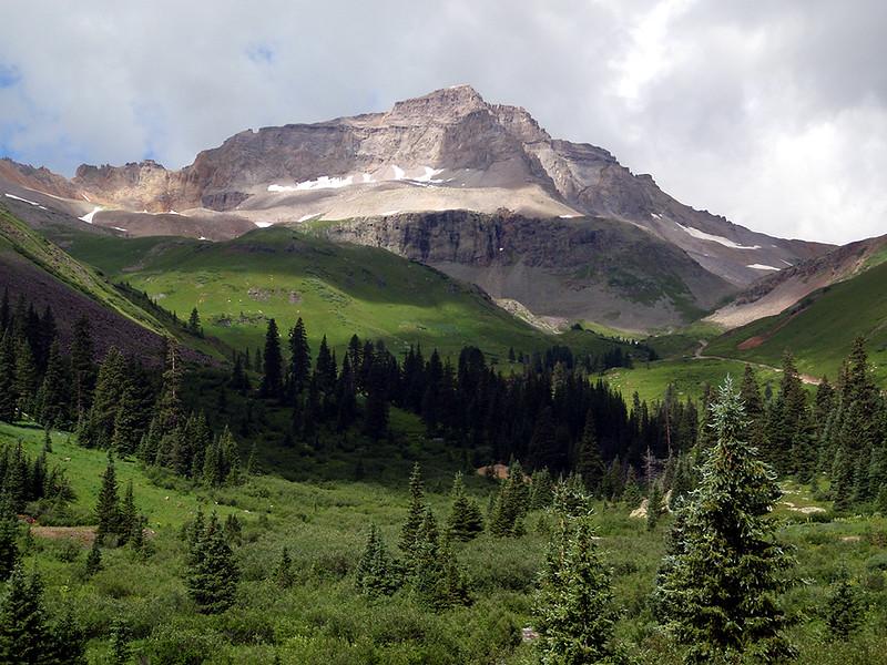 Upper Yankee Boy Basin and 13,694 foot Gilpin Geak (rank #149)