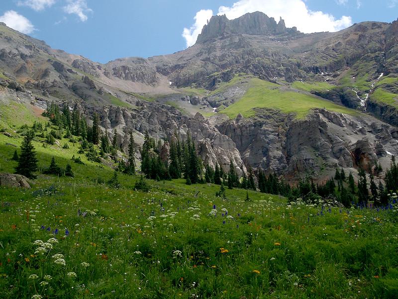 Potosi Peak (13,786 ft, rank #113), Yankee Boy Basin, San Juan Mountains, Colorado