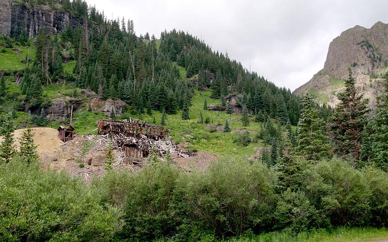 Old mine, Yankee Boy Basin, San Juan Mountains, Colorado